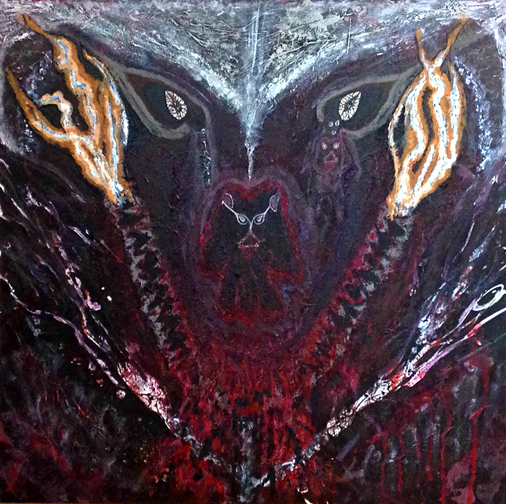 """Fury"" 24x24 acrylic (2014) by Robert Johnson"
