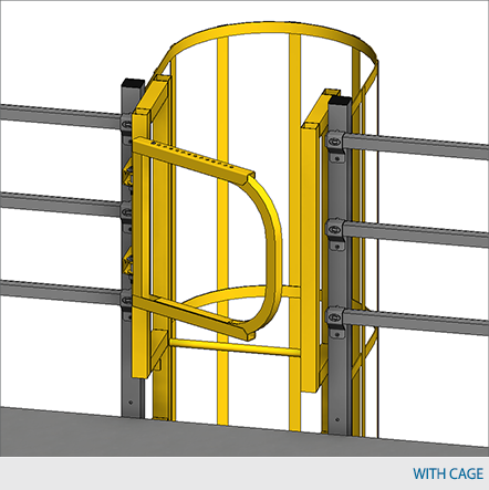 Mezzanine Self Closing Safety Gate Design Waymarc