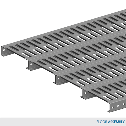 Mezzanine open steel planking floor design waymarc for Steel mezzanine design