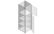 "Side panels are made of framed 2"" x 2"" x 10 GA welded wire mesh with 1 ¼"" x 1 ¼"" x12GA structural angle."