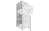 "The back panel are made of unframed 2"" x 2"" x 6&8GA welded wire mesh."