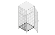 "Bottom shelves are made of 2"" x 2"" x 10 GA welded wire mesh or 16GA sheet metal framed in 1 ¼"" x 1 ¼"" x12GA structural angle."