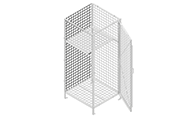 "The back panel are made of unframed 2"" x 2"" x 6&8GA welded wire mesh or 22GA sheet metal."