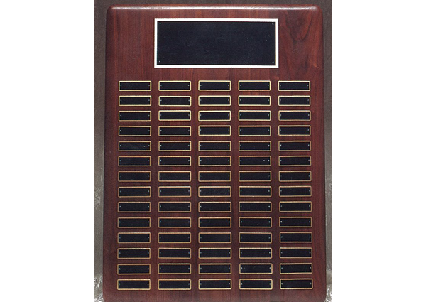 1501 perpetual roster plate with 90 plaques