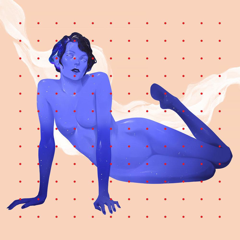 blue female
