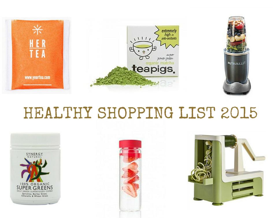 Healthy shoppinglist 2015