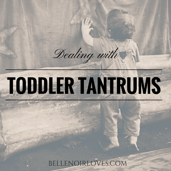 Dealing with toddler tantrums graphic