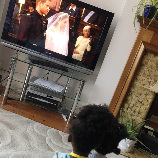 THIS...my daughter and my niece watching the new Duchess of Sussex, her mama and her man, like it ain't even a thang. This pic encapsulates what sitting on my mama's sofa watching the Royal Wedding with my family meant to me. ❤️ I had 1 black doll growing up that my grandma bought me whilst on holiday in Canada. This speaks to a collective experience of not feeling like you belong, not feeling enough and not feeling a part of it.  And no this doesn't magically change things. But it is progress and yesterday sure did feel pretty magical. 🙌🏾👑🙌🏾👑🙌🏾❤️❤️ P.S - Have you peeped the latest podcast episode yet? I spoke to @novareidofficial Diversity Consultant and Editor of @nu_bride about this and more! Link in bio to listen 🎧 #dreamanddopodcast