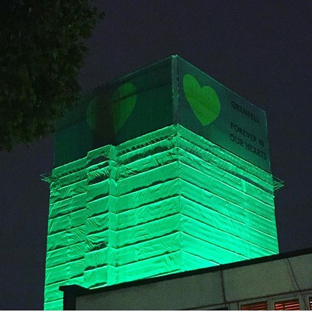 On my mind today and always 💚💚💚 #green4grenfell #grenfelltower 📸 @lizzieloveshealthy