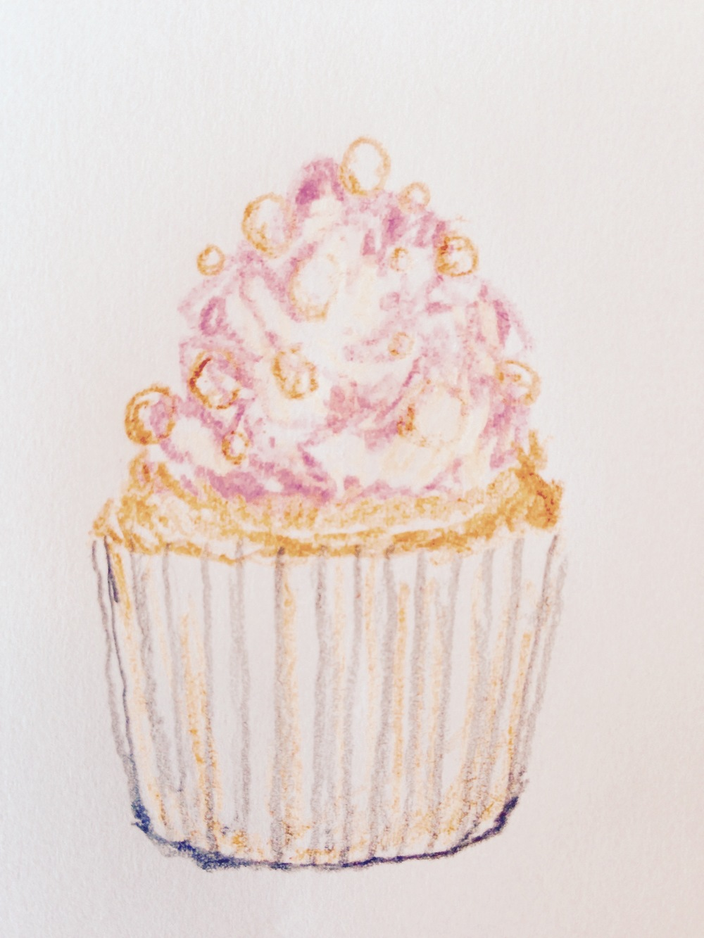 Bite size bits of cupcake heaven, obviously shown about 100 times the actual size.    Illustration by Heather Phillips