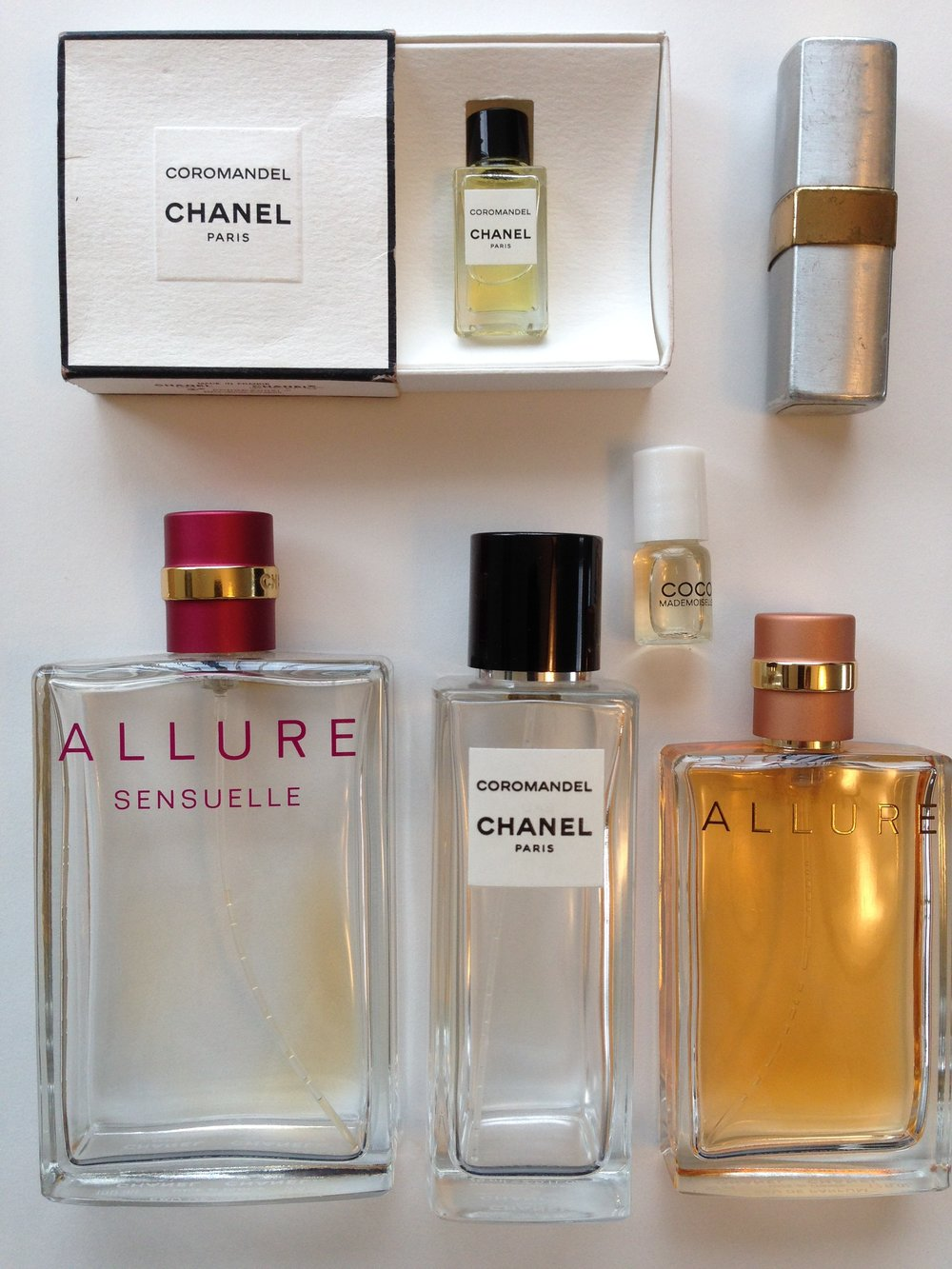 Some gone, but not forgotten - my love affair with Chanel perfumes continues.   Photo credit:  Heather Phillips