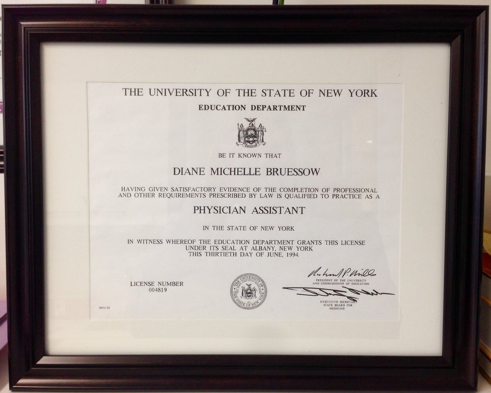 Copy of Licensed to practice medicine in NY for 25 years