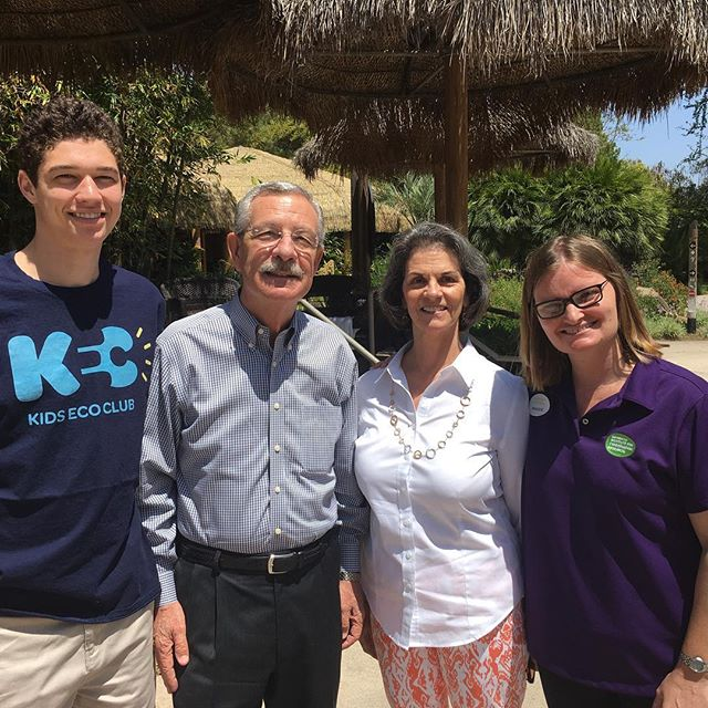 Max Guinn, Founder of Kids Eco Club; Doug Myers, CEO & President of SD Zoo Global; Nan Katona, San Diego Zoo Trustee Emeritus; Maggie Reinbold, San Diego Zoo Global, Director of Conservation Education