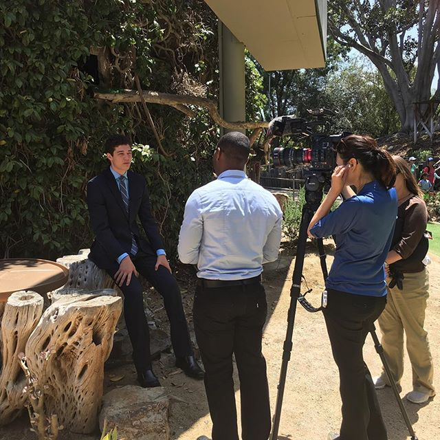 Founder of @kidsecoclub Max Guinn sharing thoughts on student campaign to #endextinction