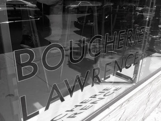 BOUCHERIE LAWERENCE  An amazing neighbourhood butcher shop offering locally and respectfully raised meat and other goodies from small independent producers.