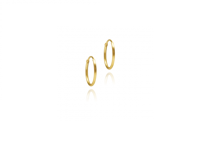 Darling hoop earring fine medium gold from HVISK - online  here