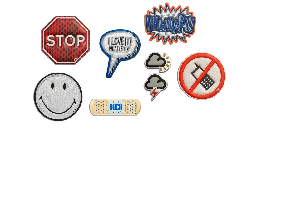 Stickers from ANYA HINDMARCH - online   here