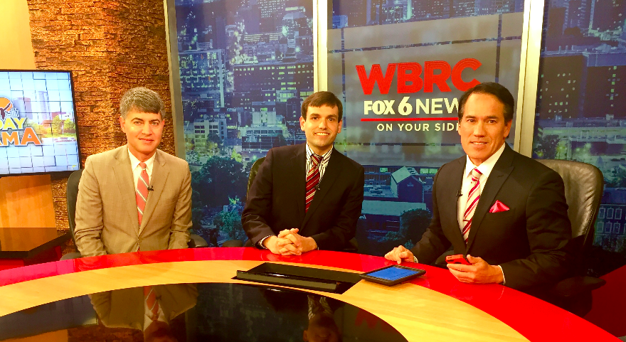 Chris Reid providing political Commentary for Fox 6 with Mike Dubberly and Paul Demarco