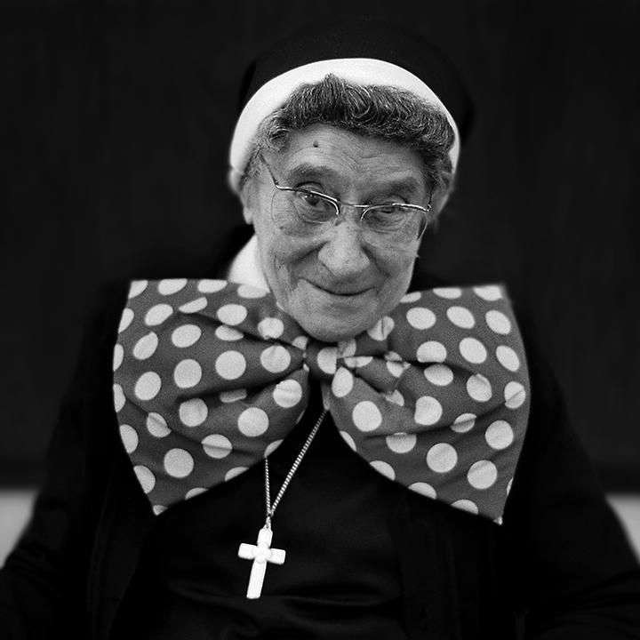 Nun's Halloween , gelatin silver print