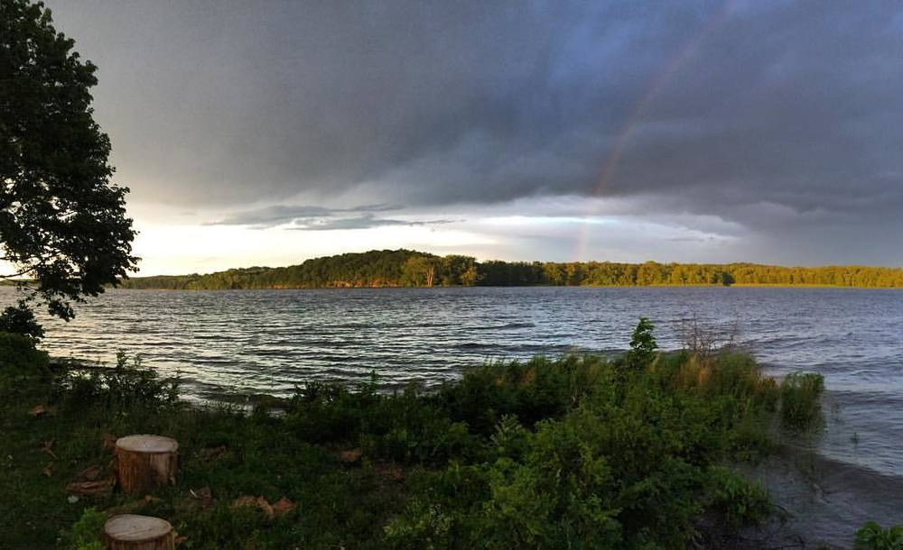 The view from Coxsackie's Riverside Park (rainbows often included).
