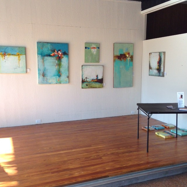"Installing for ""Canvassing the Deep"" -- my July exhibit at the @brunswickstewdio. Opening tomorrow night: come say hey! #MTArt"