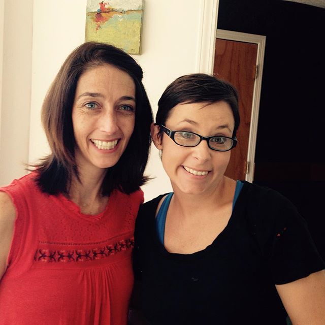 Quick studio visit with Amanda Holt -- friend, photographer, and marketing maven! Visitors are fun! #MTArt