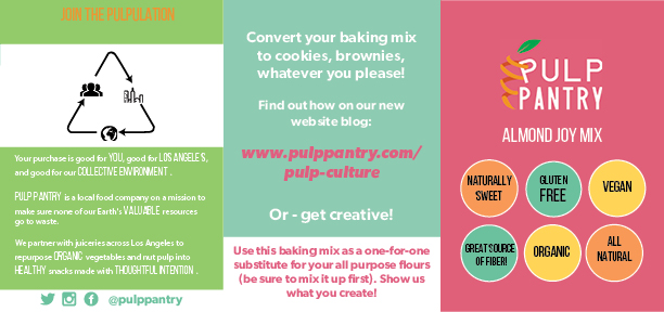 Pulp Pantry naturally sweet, gluten free, vegan, fibrous, organic, all-natural almond joy mix