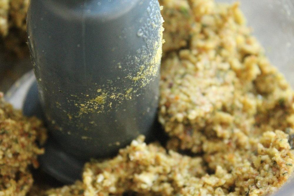 almond pulp pesto