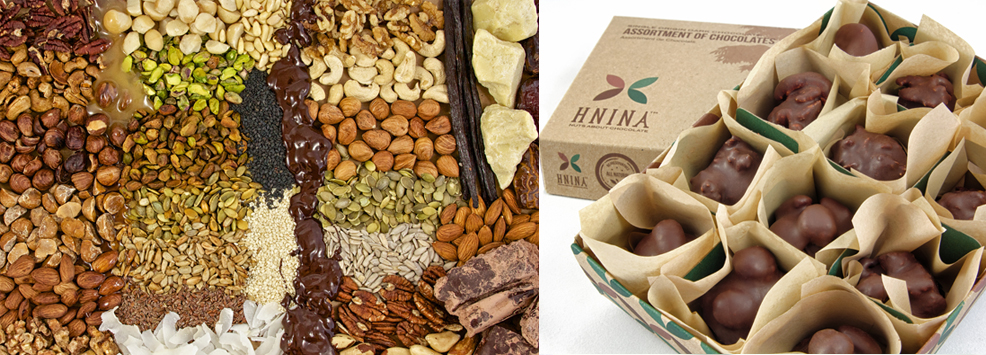 HNINA gourmet chocolates, from the website.