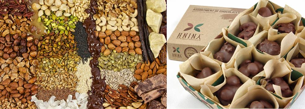 HNINA gourmet chocolates, from the website.