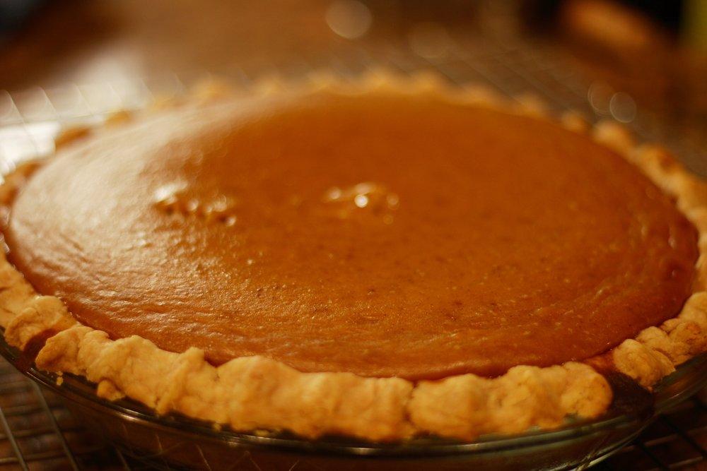refined sugar free, dairy free pumpkin pie