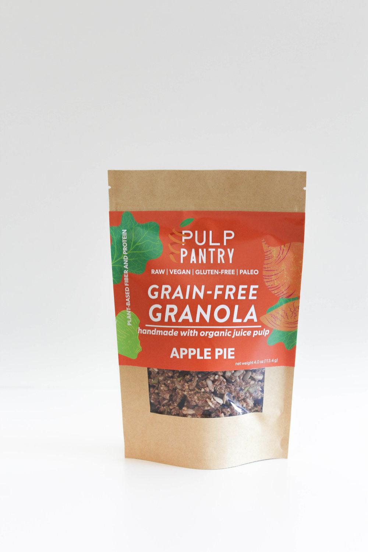 Pulp Pantry Grain-Free, Paleo, Raw, Gluten-free, Organic, Local, Plant-based, dairy-free, refined-sugar free apple pie granola
