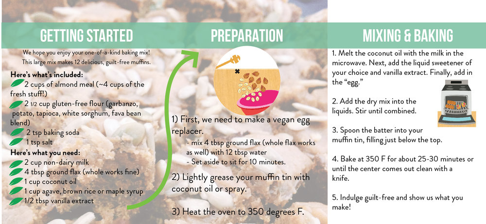 Gluten-free, refined sugar free, dairy free Almond Joy Large Mix Instructions