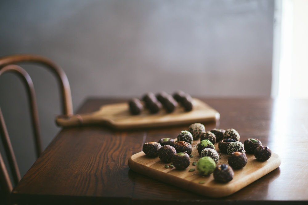 almond nut pulp savory energy bites