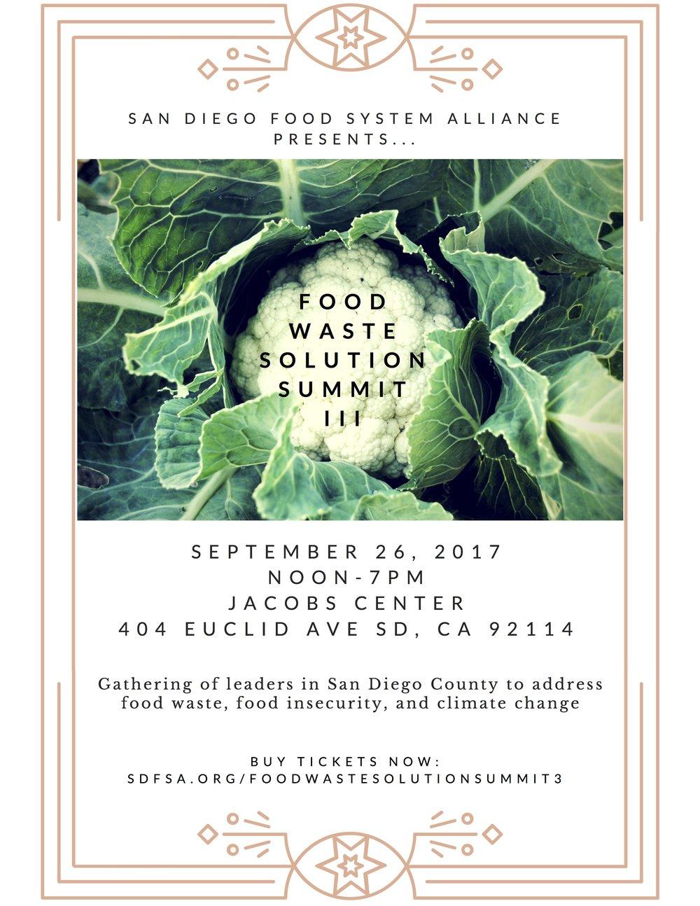 San Diego food waste solutions summit