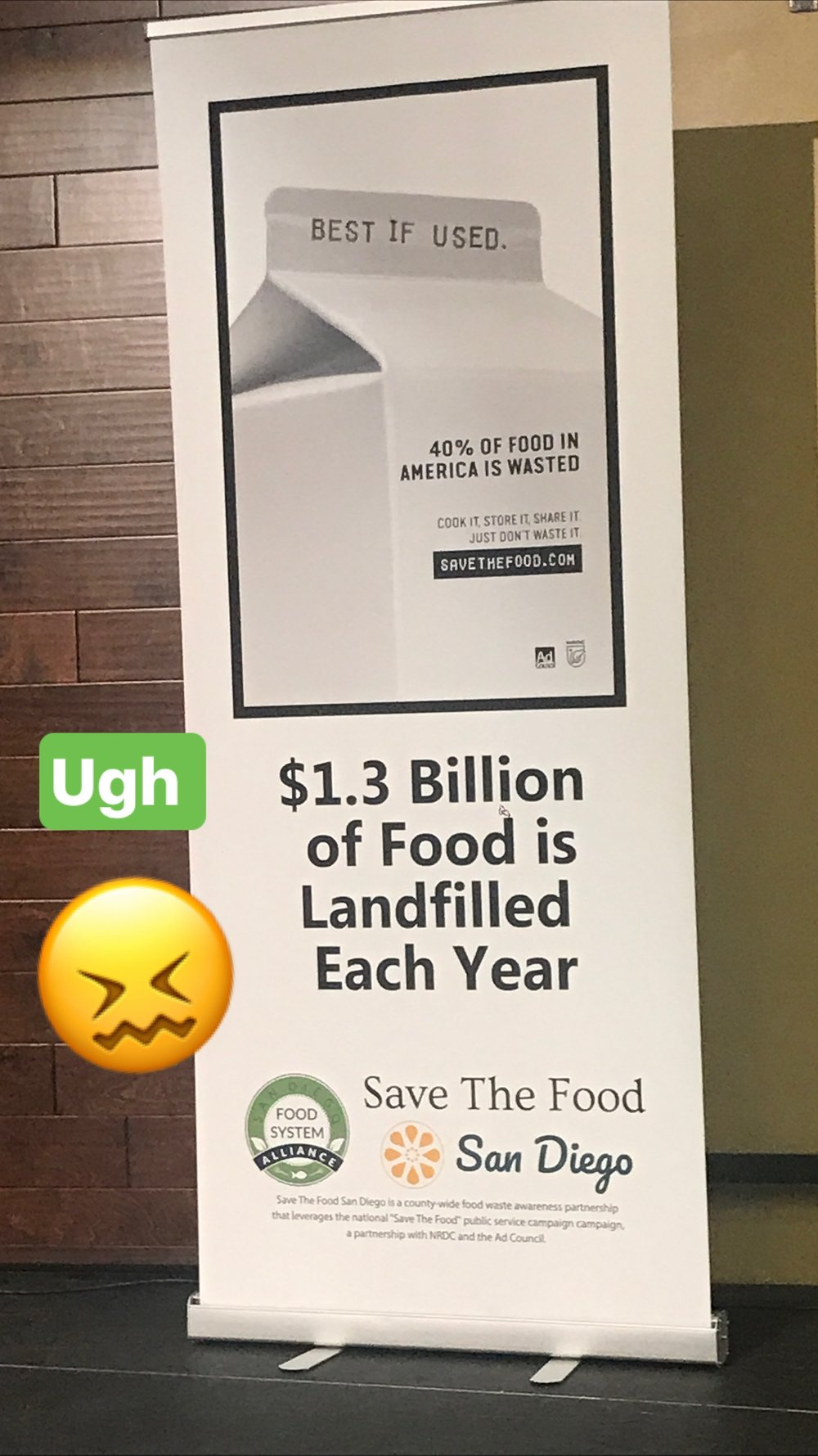 food waste in the landfill