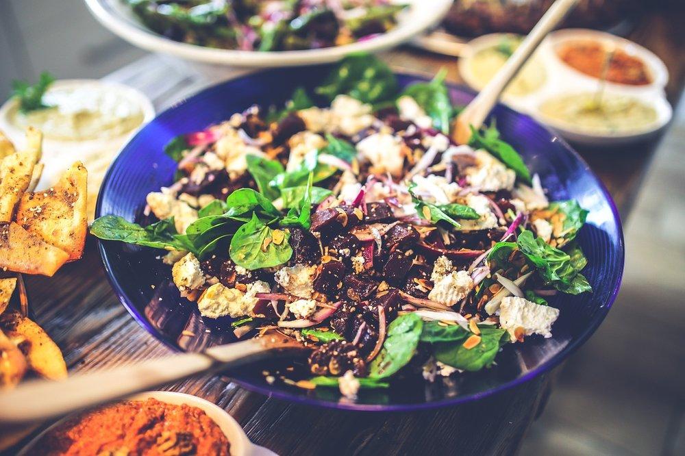 dairy-free, gluten-free, refined-sugar free beet greens salad