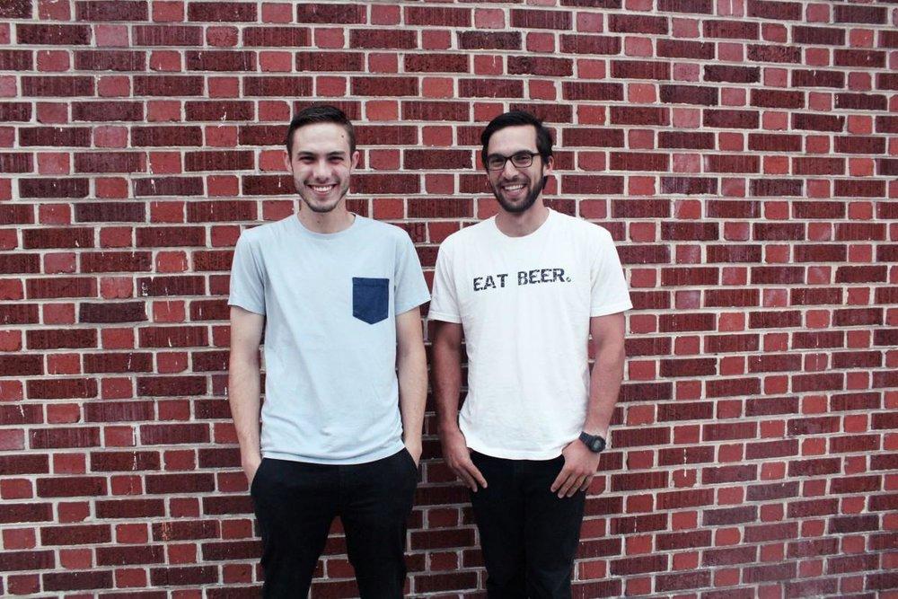 eat beer with regrained, co-founders of ReGrained, Jordan and Dan