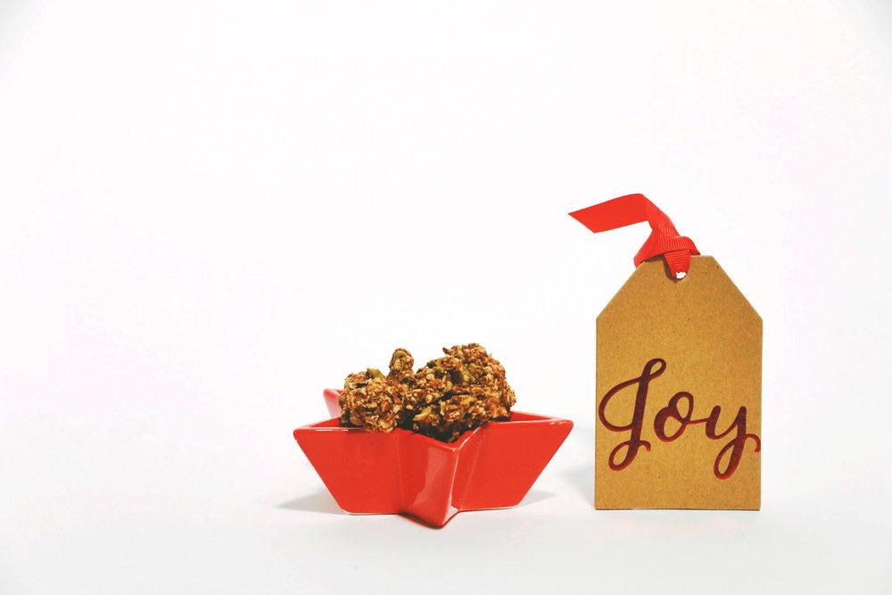 Pulp Pantry Grain-Free, Paleo, Raw, Gluten-free, Organic, Local, Plant-based, dairy-free, refined-sugar free holiday granola