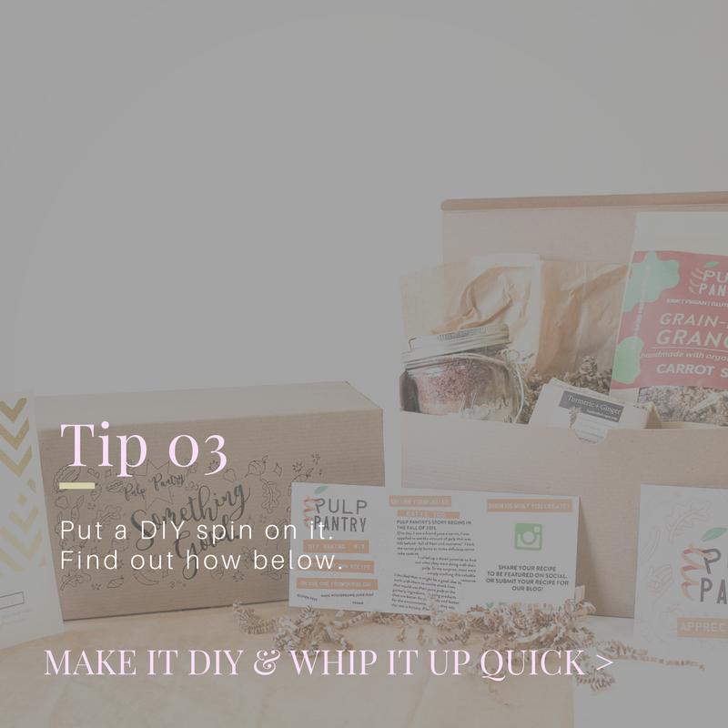 tip 03 diy spin  good gifting principles