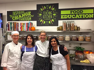 Jeanne Rosner at food education class