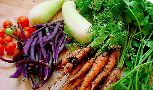 seasonal, unprocessed, local, organic root vegetables