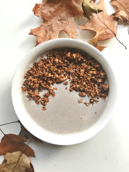 Pulp Pantry Grain-Free, Paleo, Raw, Gluten-free, Organic, Local, Plant-based, dairy-free, refined-sugar free granola in a smoothie bowl