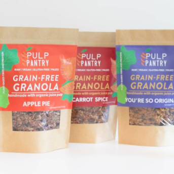 Pulp Pantry Grain-Free, Paleo, Raw, Gluten-free, Organic, Local, Plant-based, dairy-free, refined-sugar free granola