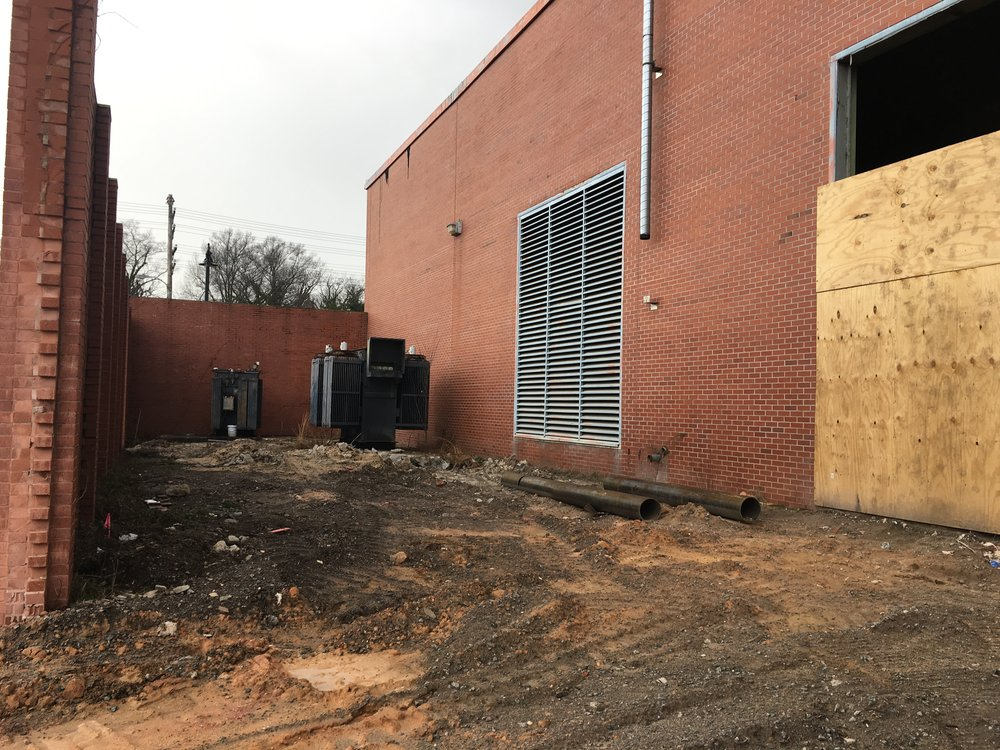 Calhoun side - future glass garage doors