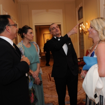 Opera Lafayette- French Ambassador Gérard Araud with Young Professionals, and Board Member Al Shofe- Photographer Stan Barouh.JPG