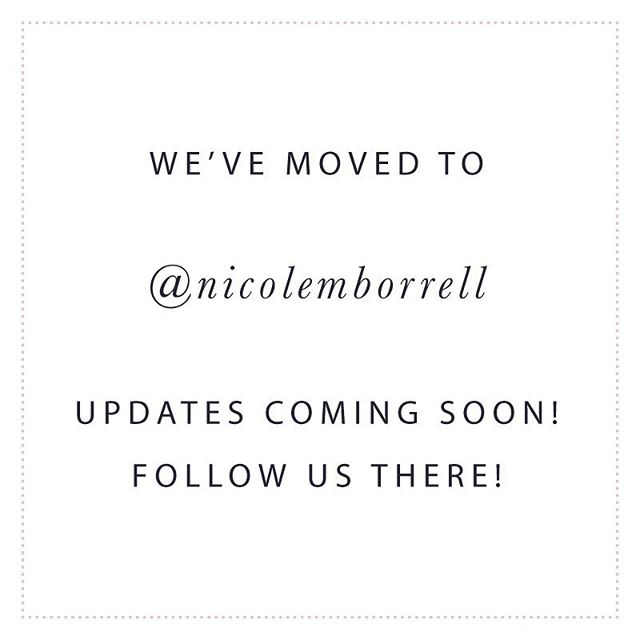 Changing things up a bit! More to come. Follow along @nicolemborrell #changeisgood