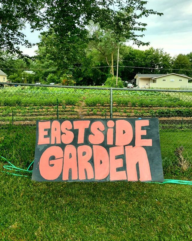 Sneak peak at the work being done by the kids at the MLK Jr Park Summer Camp.  They have been working on some new signs for the community garden next to the Philadelphia Seventh Day Adventist Church  #eastsidegarden #eastsidepride #MLKJrParkNeighborhood #DesMoines #CommunityGarden #UrbanAgriculture  #dsmpublicart
