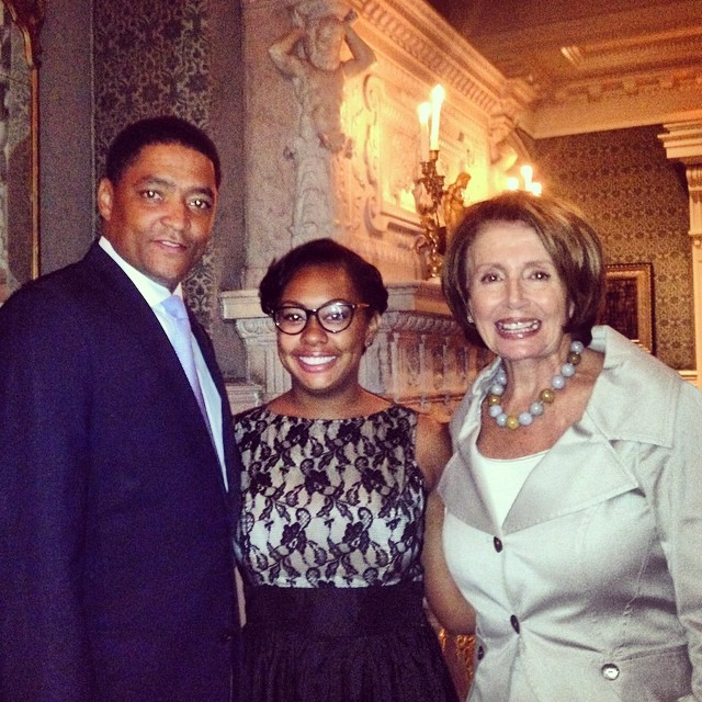 Congressman Cedric Richmond & Nancy Pelosi at the DCCC Reception in New Orleans
