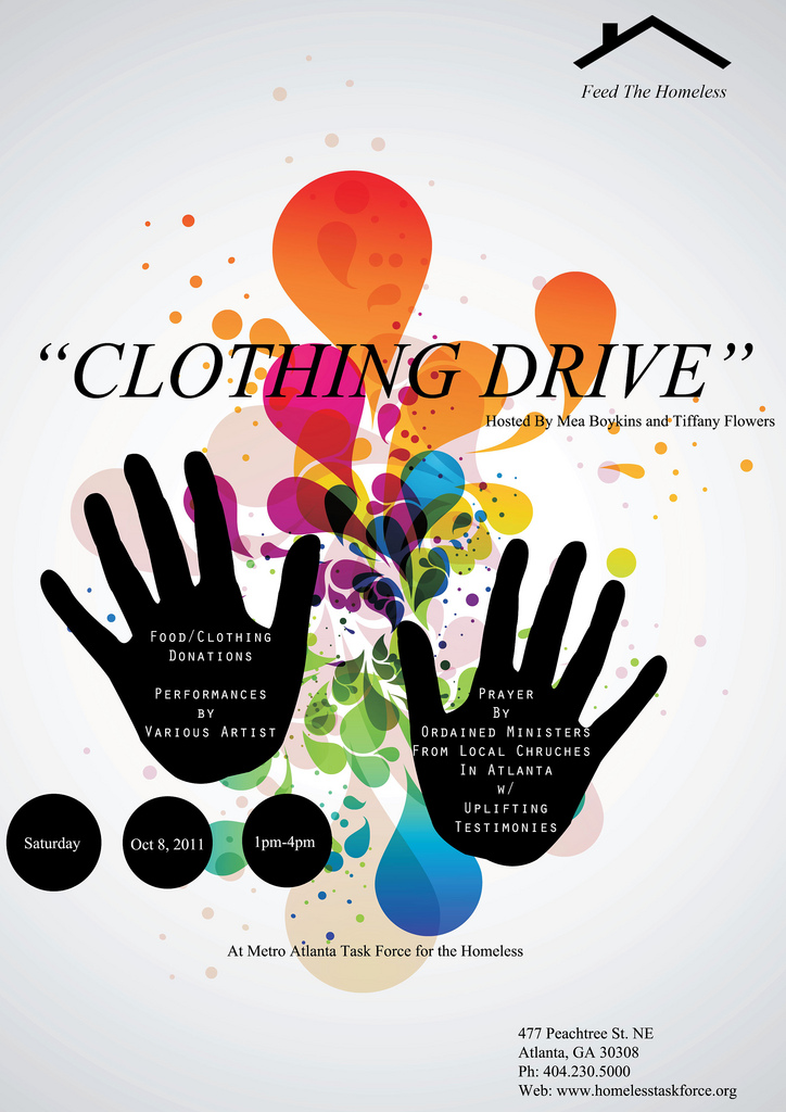 Clothing Drive at Atlanta Task Force Shelter for Men